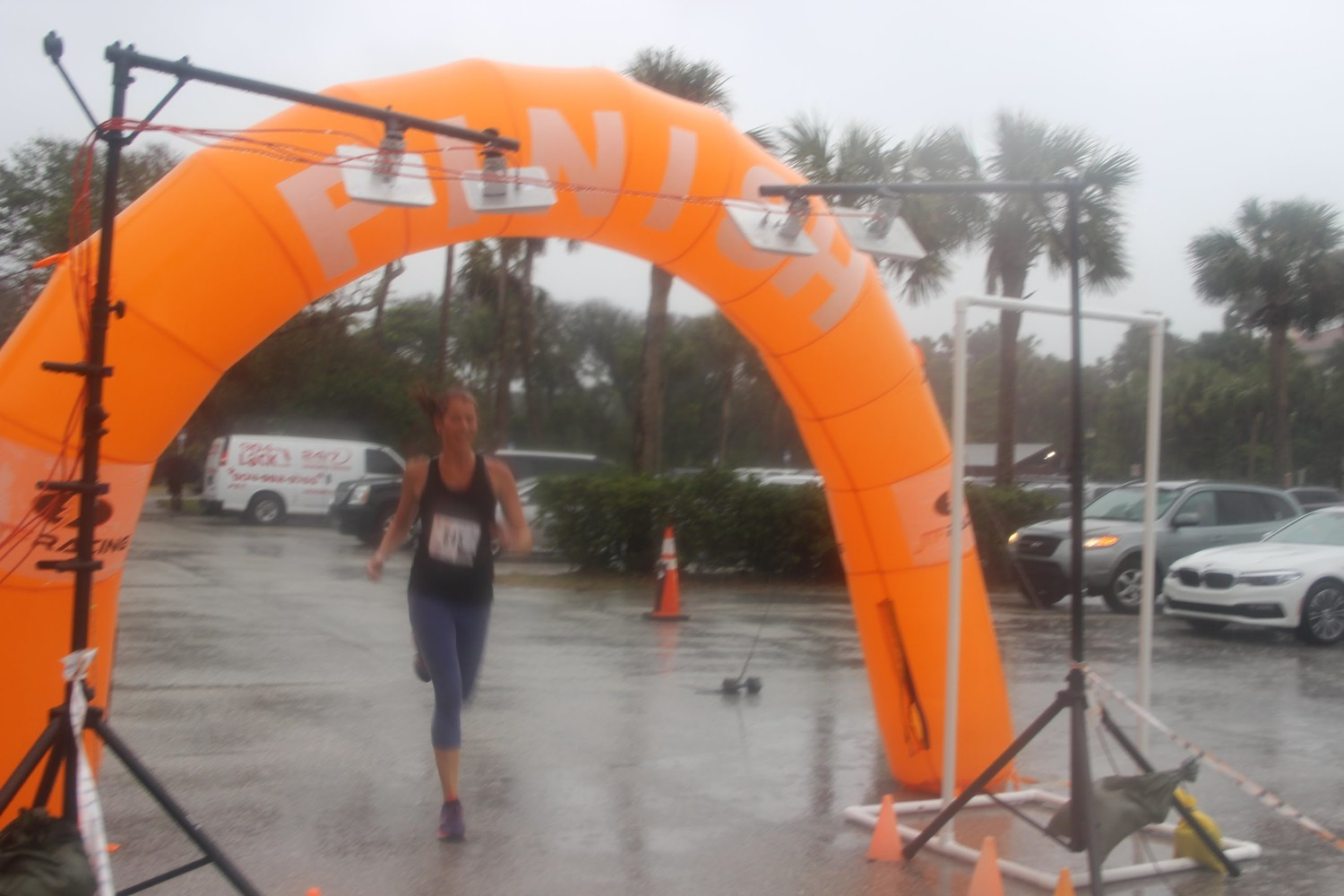 Amber Bolhuis finishes the race first in the female division.