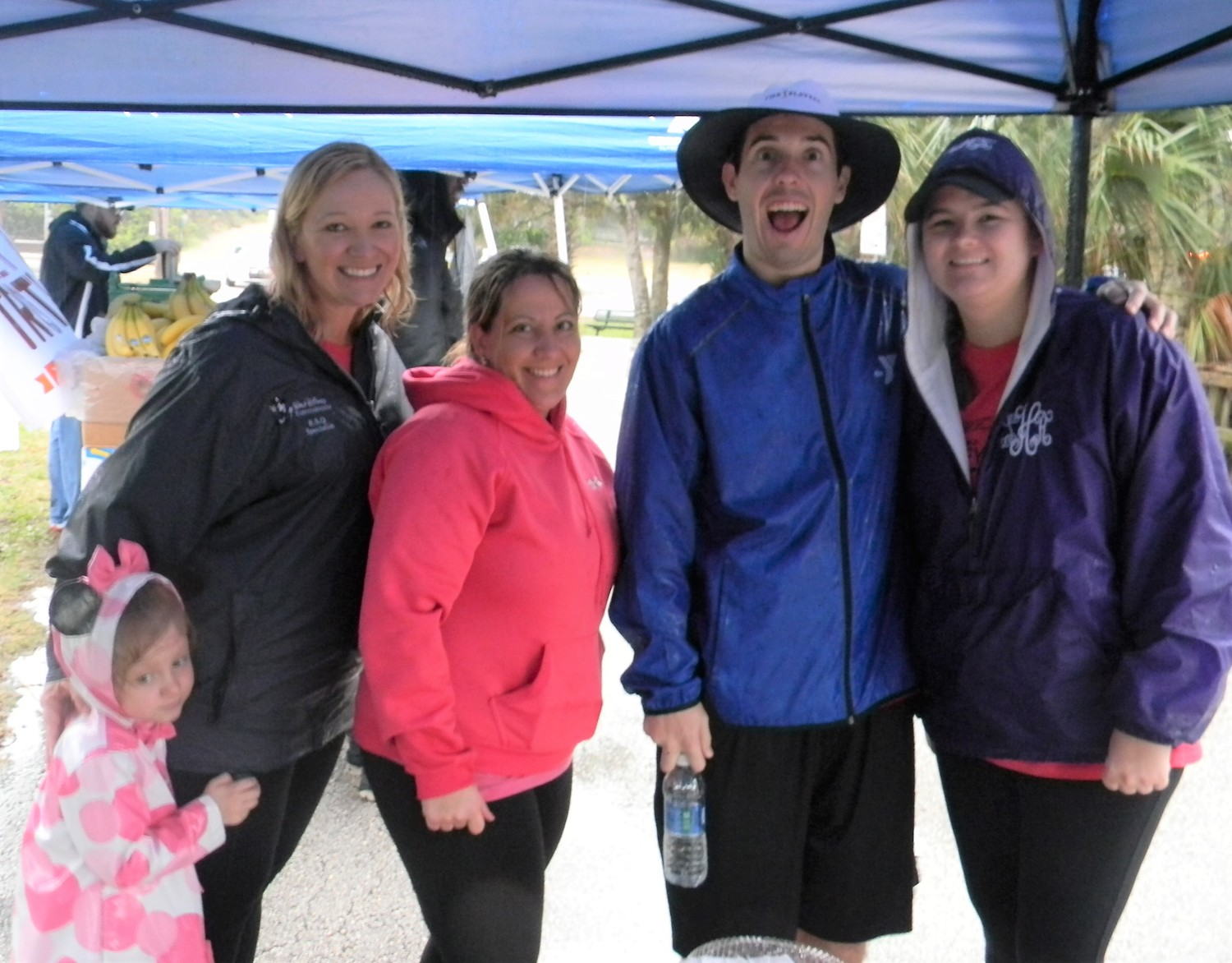 Ponte Vedra YMCA staff and volunteers McKinley O'Neal, Jordan O'Neal, Melissa McGlynn, Sean Ricci and Sydney Hester