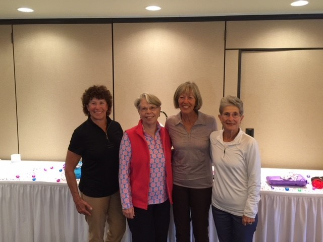 Diamond Flight low net winners were Duffy Kopriva (from left), Diana Stewart, Helen Short and Sue Ottenstroer with a score of 262.