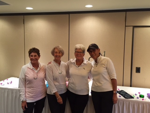 Emerald Flight low net winners were Sherri Lubin (from left), Vicki Arnold, Judy Tyndal and Elana Dietz with a score of 268.