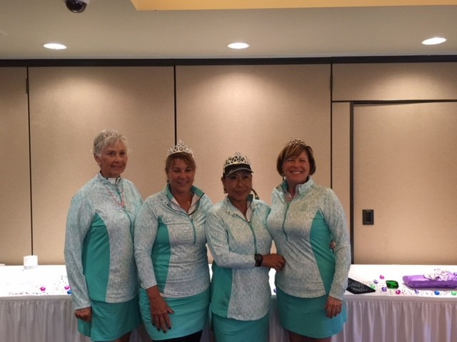 Yellow Diamond Flight low net winners were Pat Hickerson (from left), Darlene Deo, Pong Mattiace and Jane Rollinson with a score of 264.