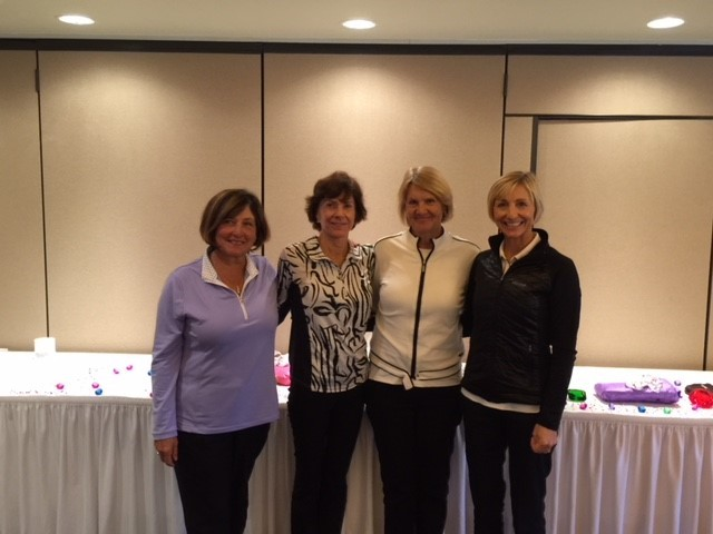 Sapphire Flight low net winners were Adrienne Whitman (from left), Deborah Meyer, Sara Strom and Erika Schneider with a score of 262.