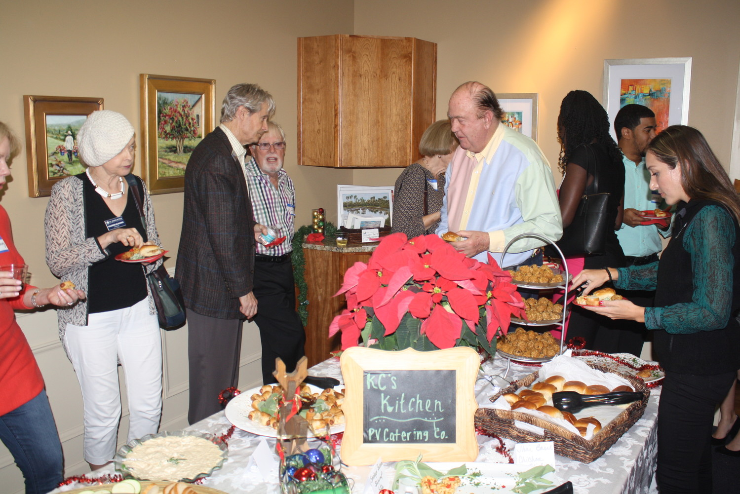 Event guests enjoy food from KC's Kitchen.