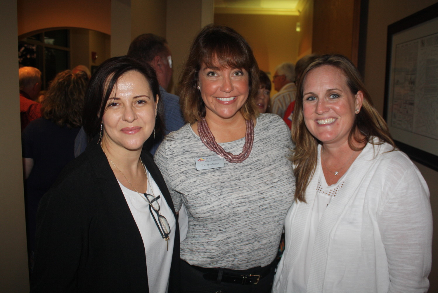 SJC Chamber President and CEO Isabelle Rodriguez, PVB Division Director Toni Boudreaux and Chamber Sales and Marketing Manager Erin Cook