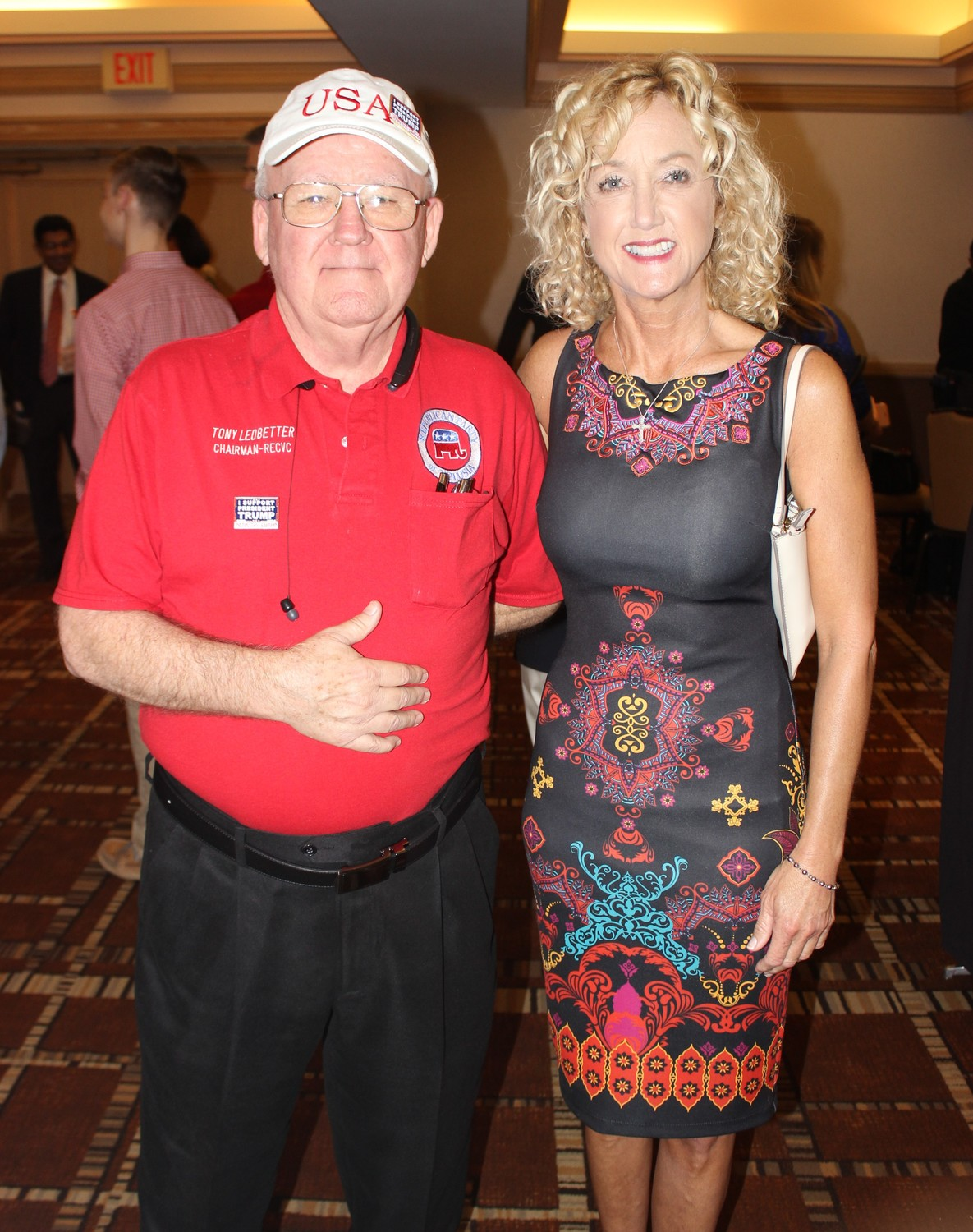 Tony Ledbetter, chairman of the Volusia County Republican Executive Committee with Diane Scherff, second vice chair for the St. Johns County Republican Executive Committee