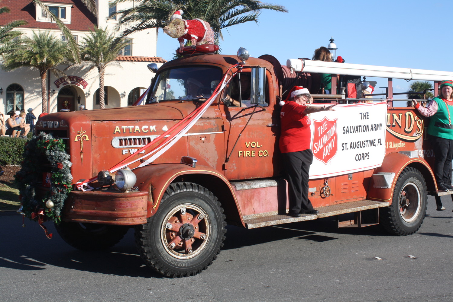 The Salvation Army truck makes its way through Downtown St. Augustine.