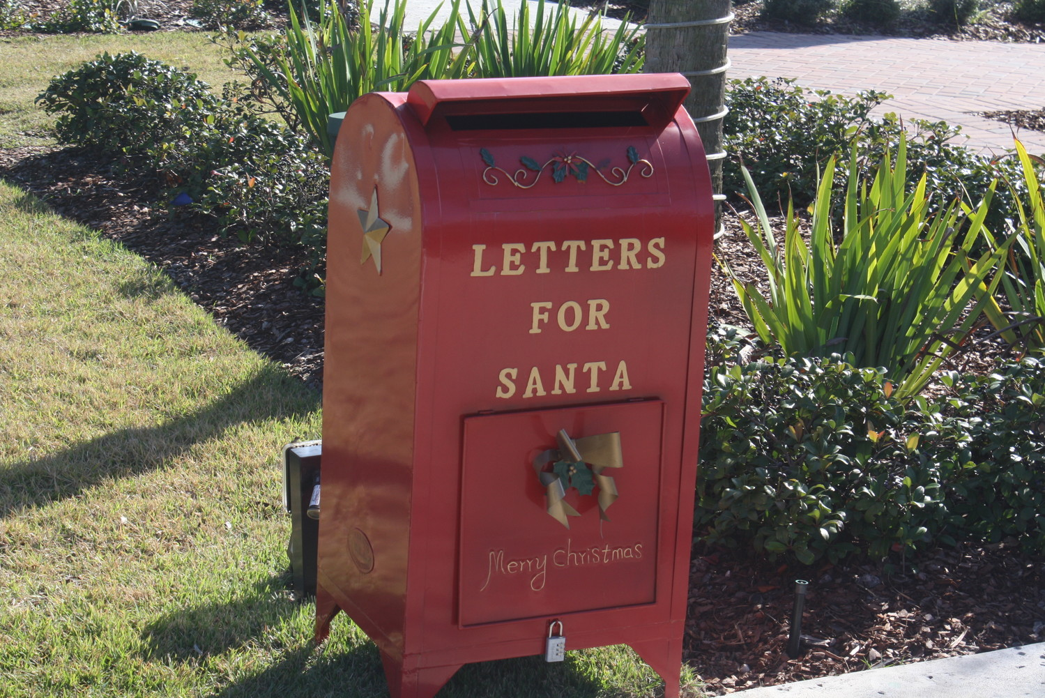 Santa's mailbox located near Nona Blue in Sawgrass Village is accepting letters until Dec. 15.