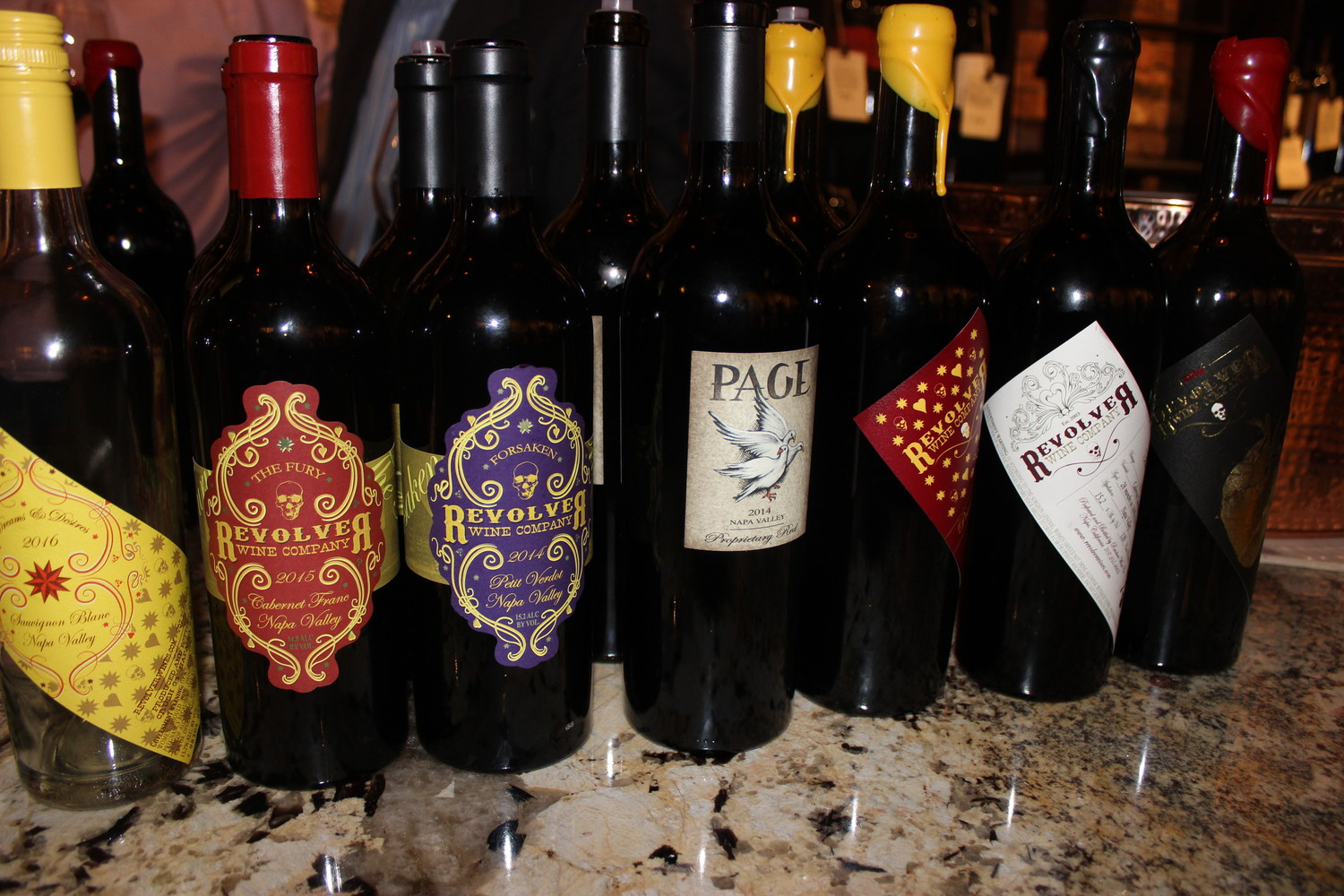 "A variety of Page's wines were available at the ""Meet the Winemaker"" event."