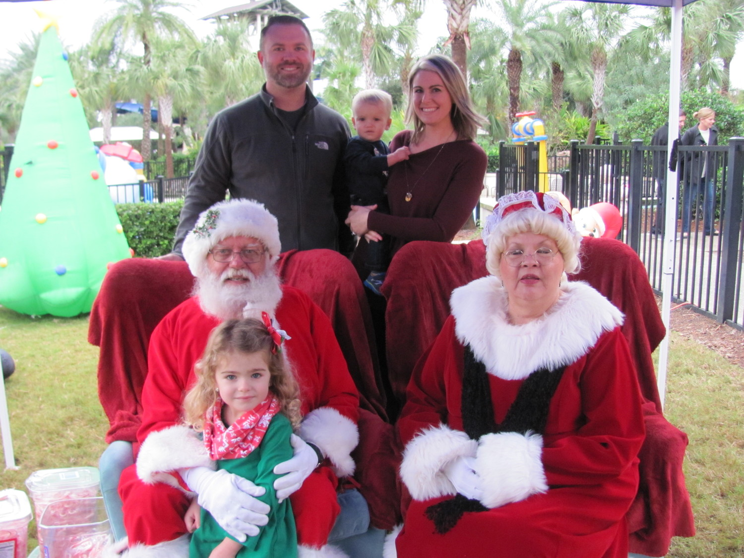 "Nocatee kids enjoy the bubble zone at ""Breakfast with Santa"" on Dec. 9."