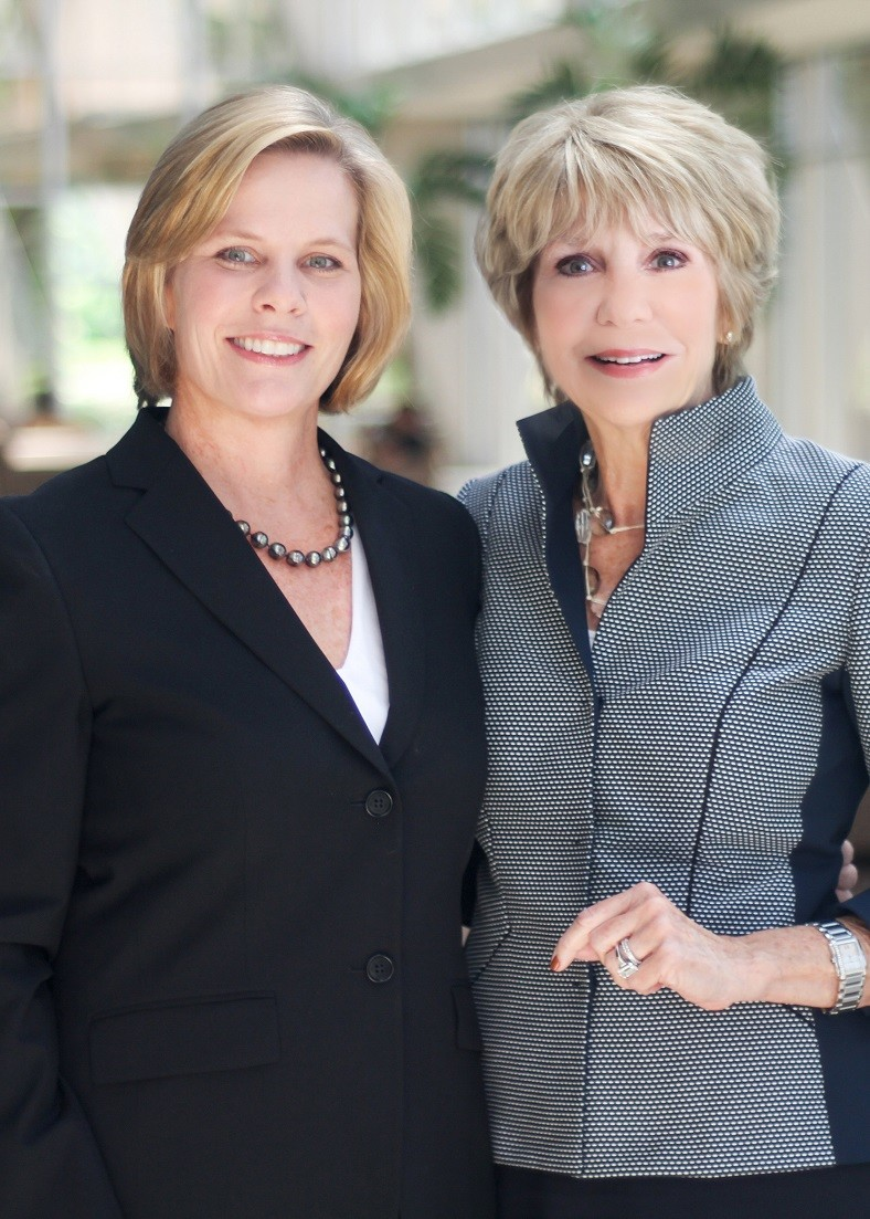 Berkshire Hathaway HomeServices Florida Network Realty Broker/Executive Vice President Christy Budnick and Founder, President and CEO Linda H. Sherrer