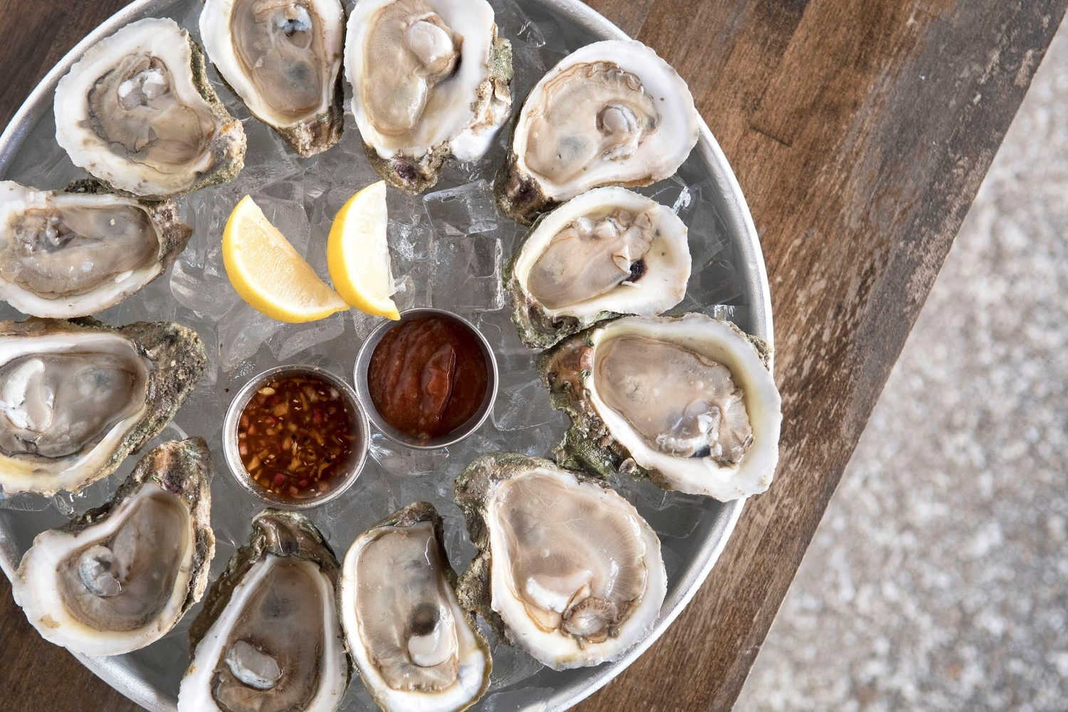 St. Augustine Seafood Company offers up fresh oysters from the Gulf Coast and other locales.