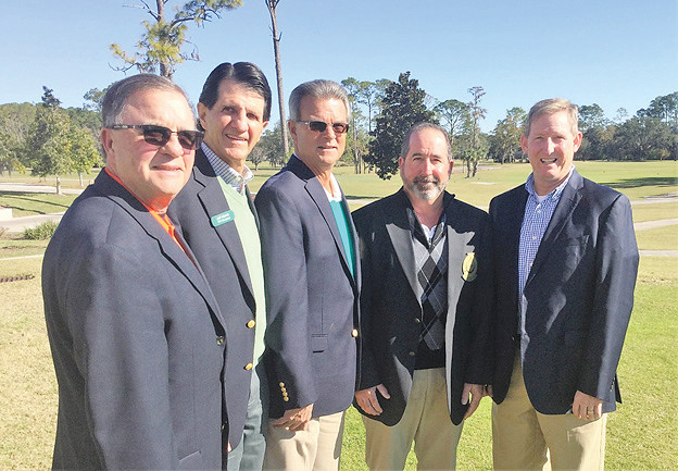 Don Gilmore (from left), Jeff Adams, Larry Stark, Randy Nader, Kevin Glynn were elected 2018 officers for the Jacksonville Area Golf Association.