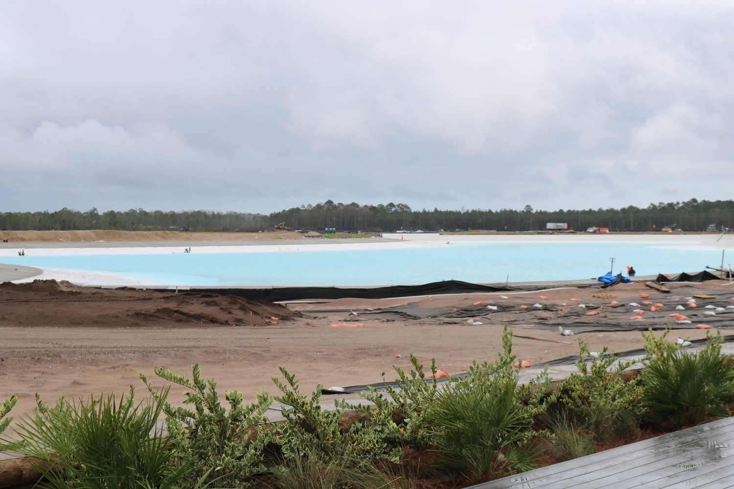 The Crystal Lagoon is currently under construction.