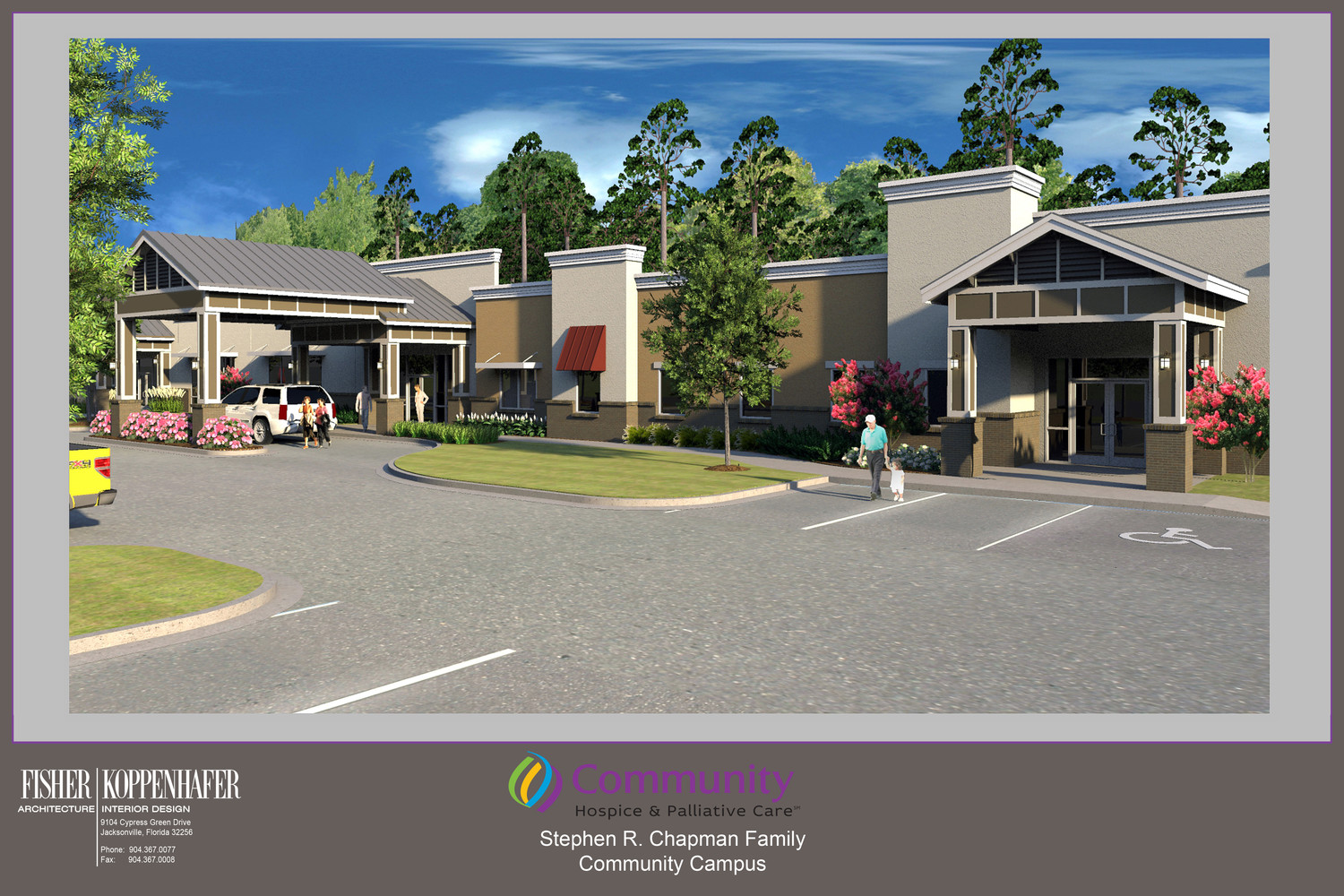 A rendering displays the vision of the Stephen R. Chapman Family Community Campus.