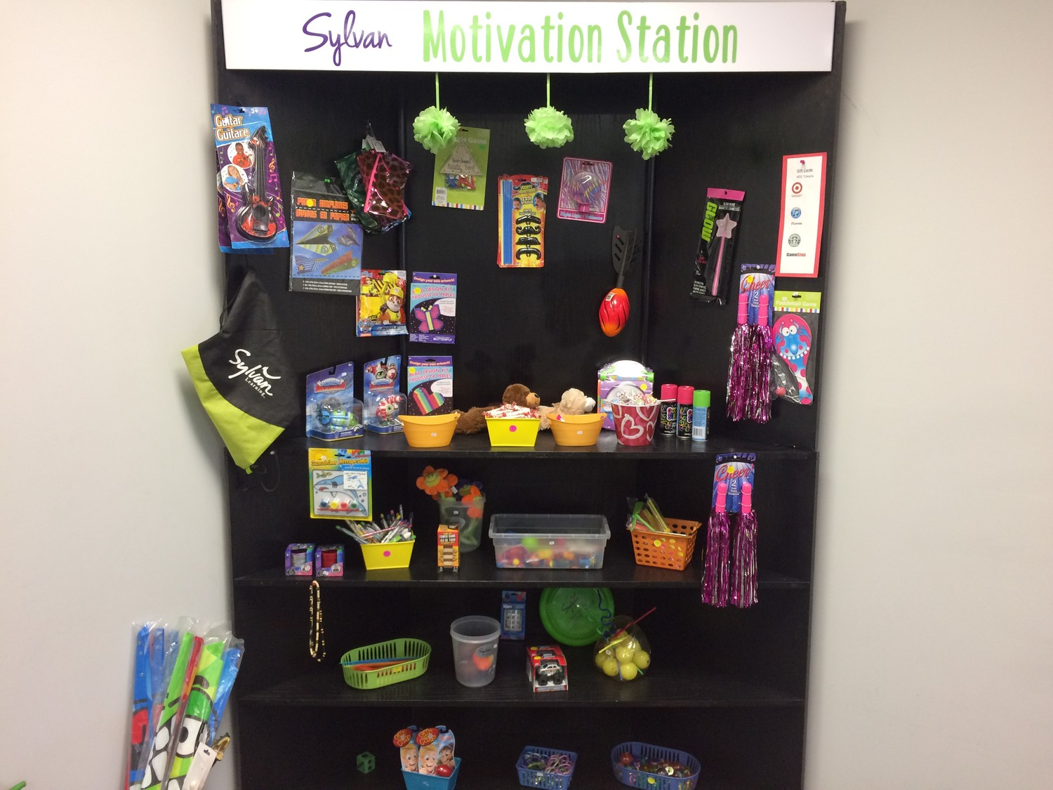 "A ""motivation station"" at Sylvan Learning Center of Ponte Vedra Beach."