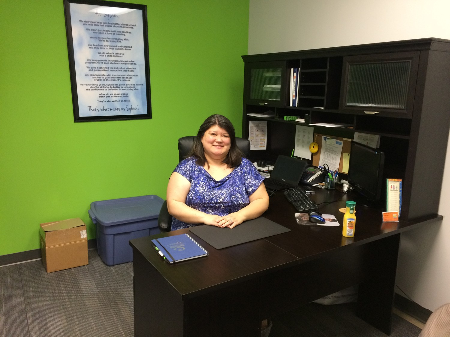 Heather Anckner, one of the co-owners of Sylvan Learning Center of Ponte Vedra Beach, poses for a photo in her office.