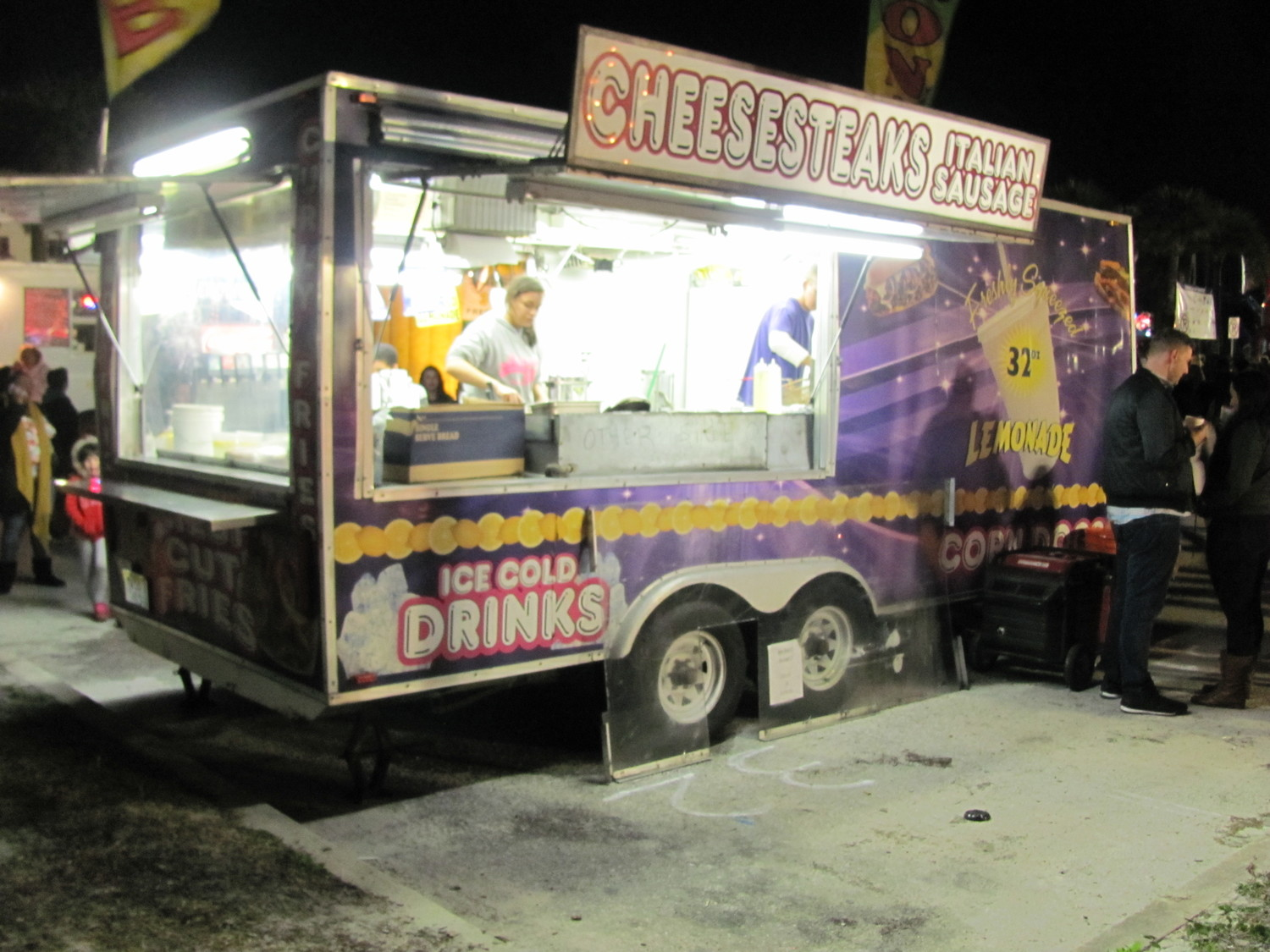 A food truck prepares cheesesteaks and other delicious foods for event attendees at St. Augustine's Beach Blast Off.