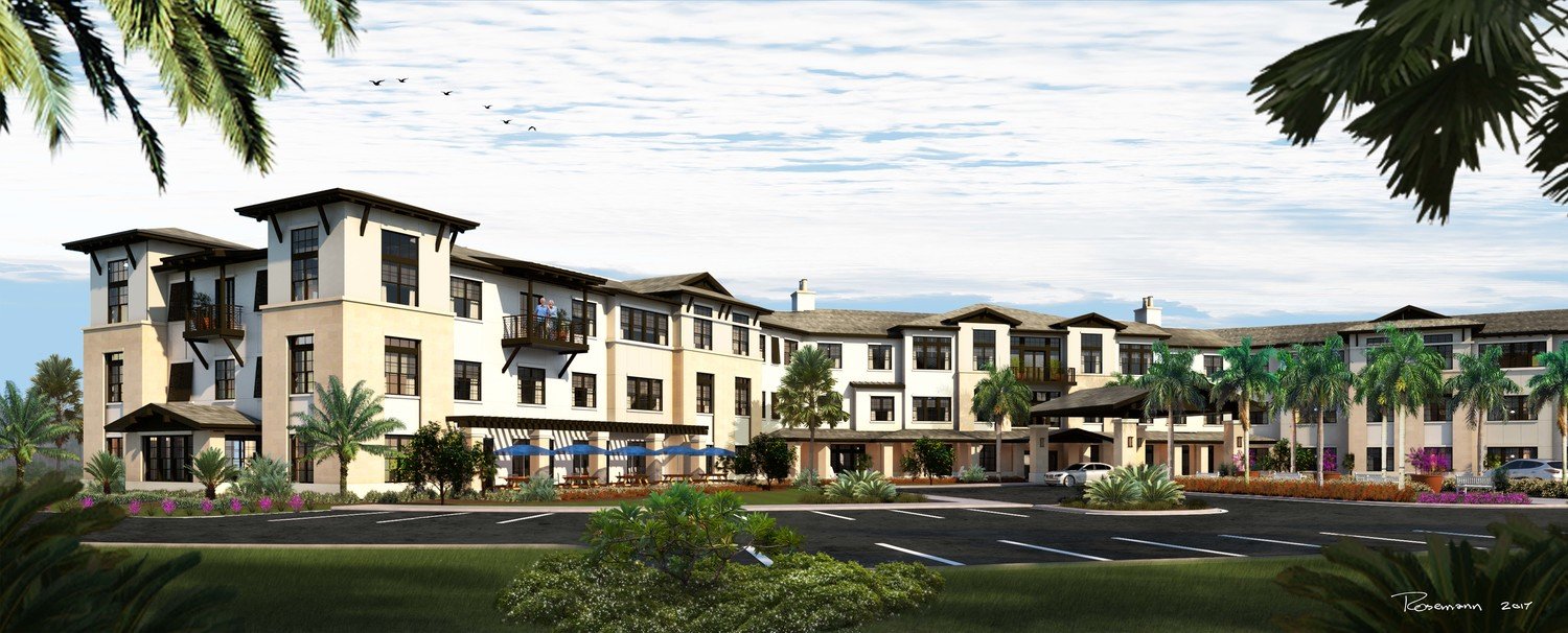 A rendering displays the plans for Starling at Nocatee's independent living community, which is expected to be complete in spring 2019.