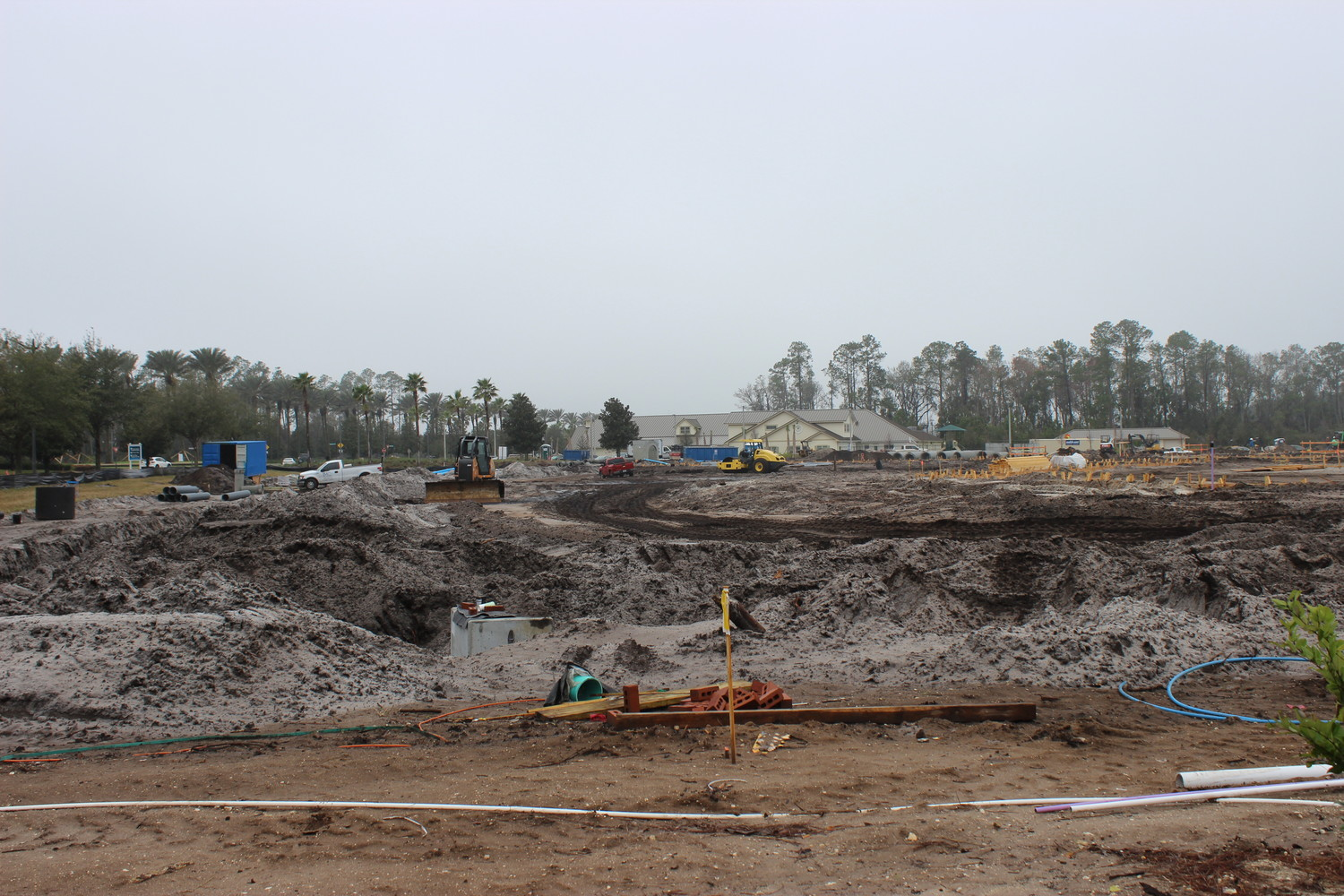 Construction begins to take place on the new independent living community.