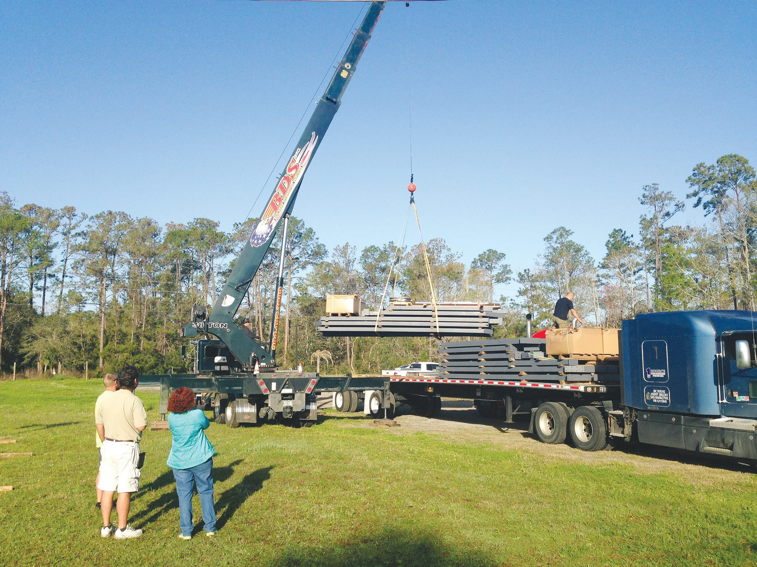 Steel is recently delivered for the Lord of Life Lutheran Church sanctuary.