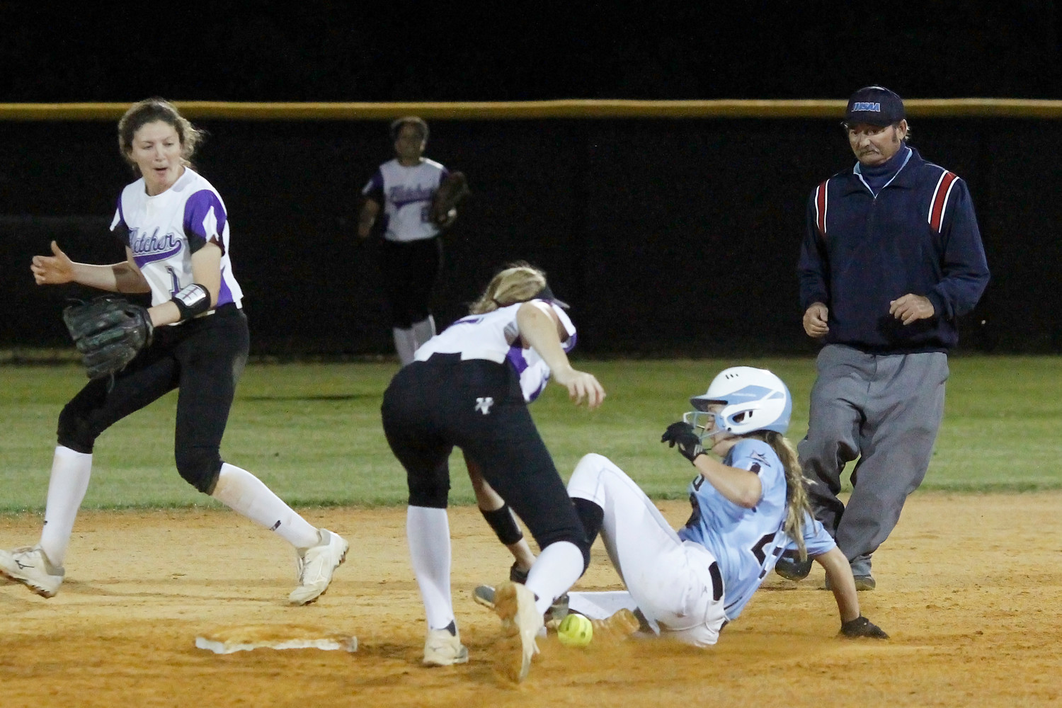 Kiley Hennesey of Ponte Vedra slides safely into second on a steal.