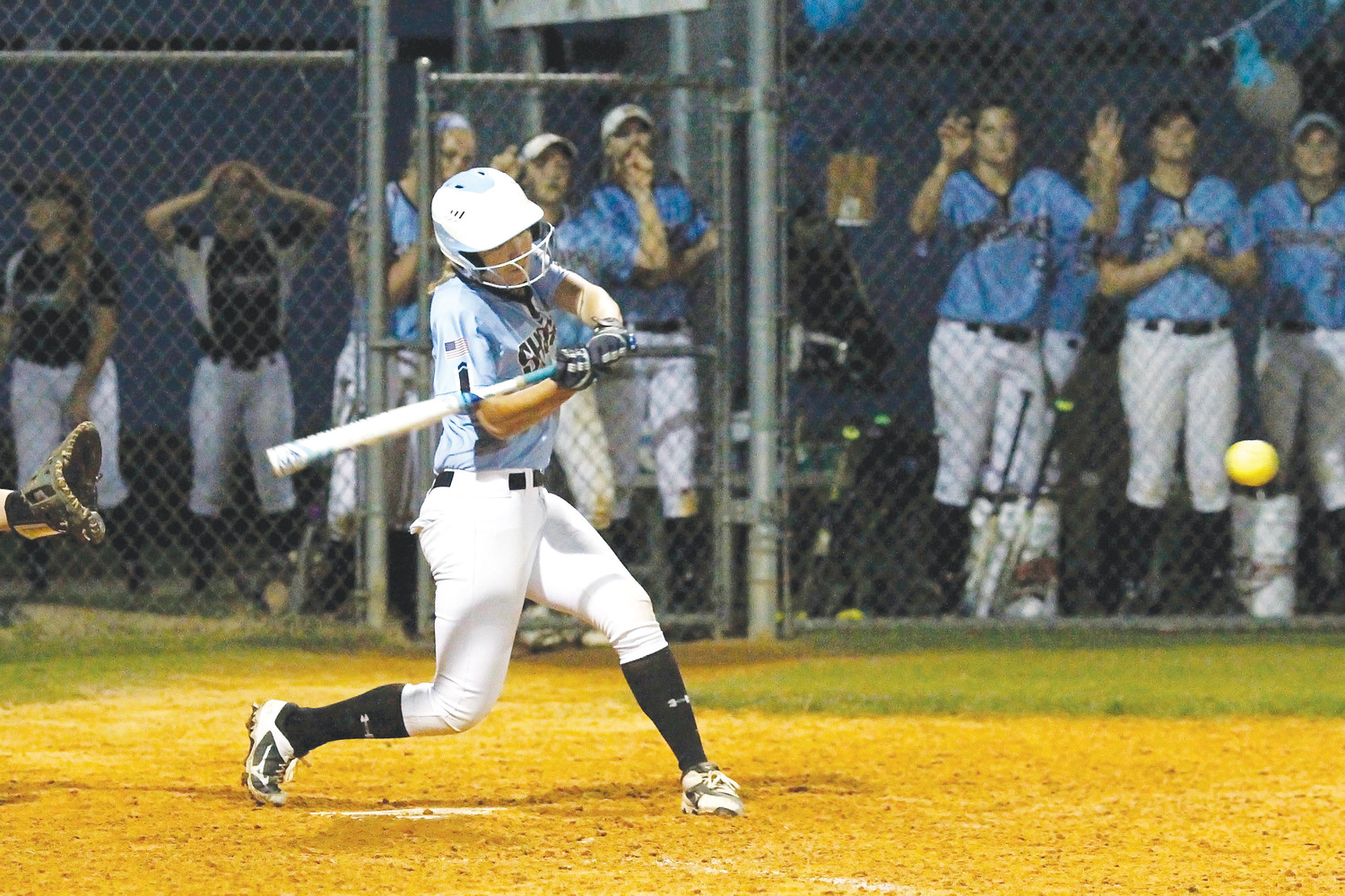 Audrey Matt delivers a walk-off hit for Ponte Vedra to drive home the game winner in the bottom of the seventh inning, resulting in a 5-4 win for the Sharks over Fletcher on Friday, March 2. Pitcher Michelle Holder, who earned the win, contributed offensively with a long home run in the fifth inning to tie the game 4-4. Cat Beaton collected two hits for the Sharks. Ponte Vedra celebrated senior night for Quinlan Richmond and Kiley Hennesey.