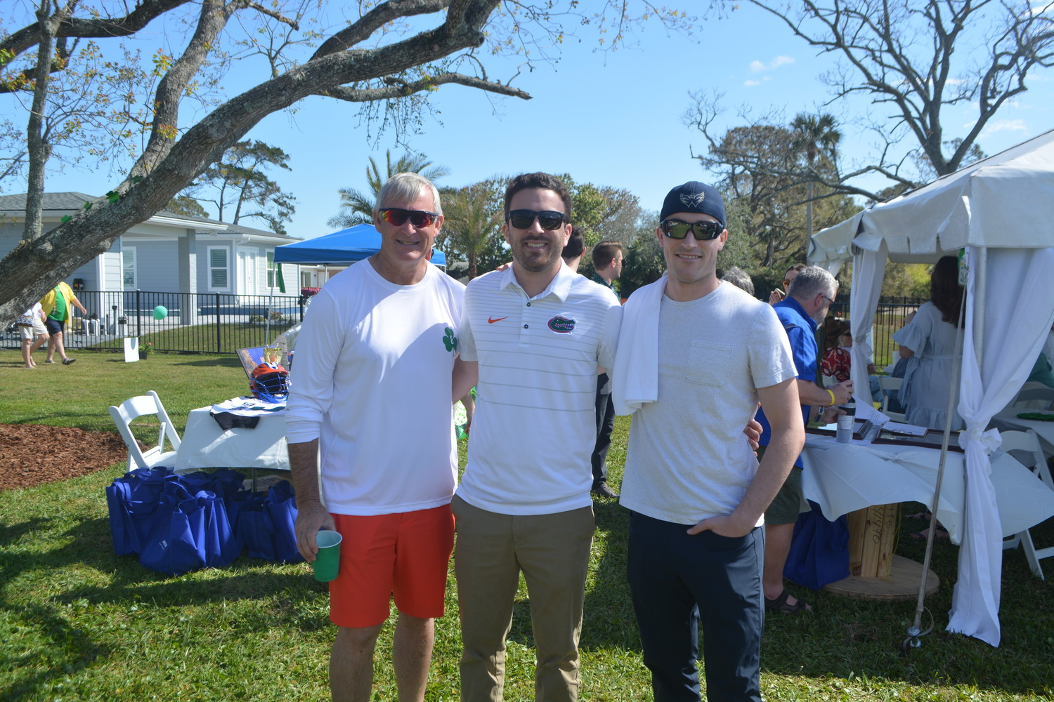 Sean Hanrahan, Dylan Rodriguez and Keinan Hanrahan gather at the Classic.