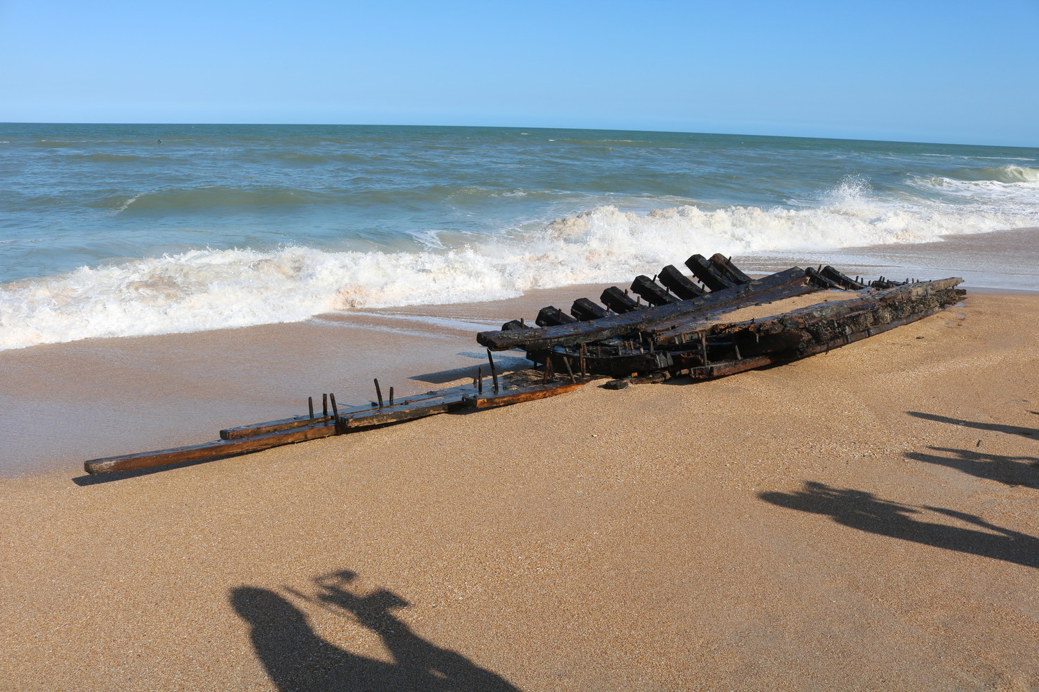 Hull Of Historic Ship Washes As In South Ponte Vedra Beach The Recorder