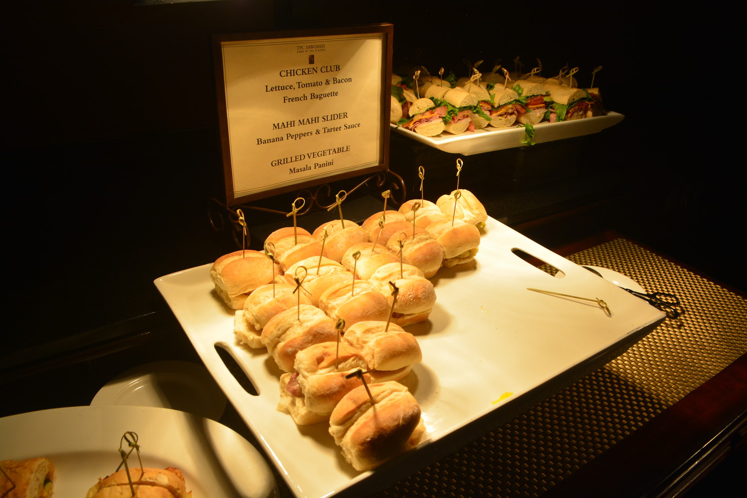 Chicken club sandwiches served at the Casino Night on the Greens event