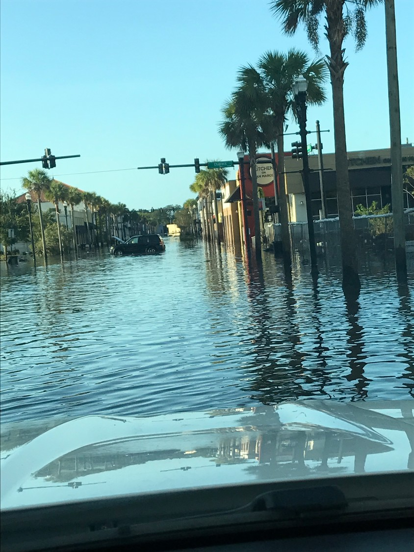 The San Marco area of Jacksonville where Bistro Ais is located flooded significantly during Hurricane Irma.