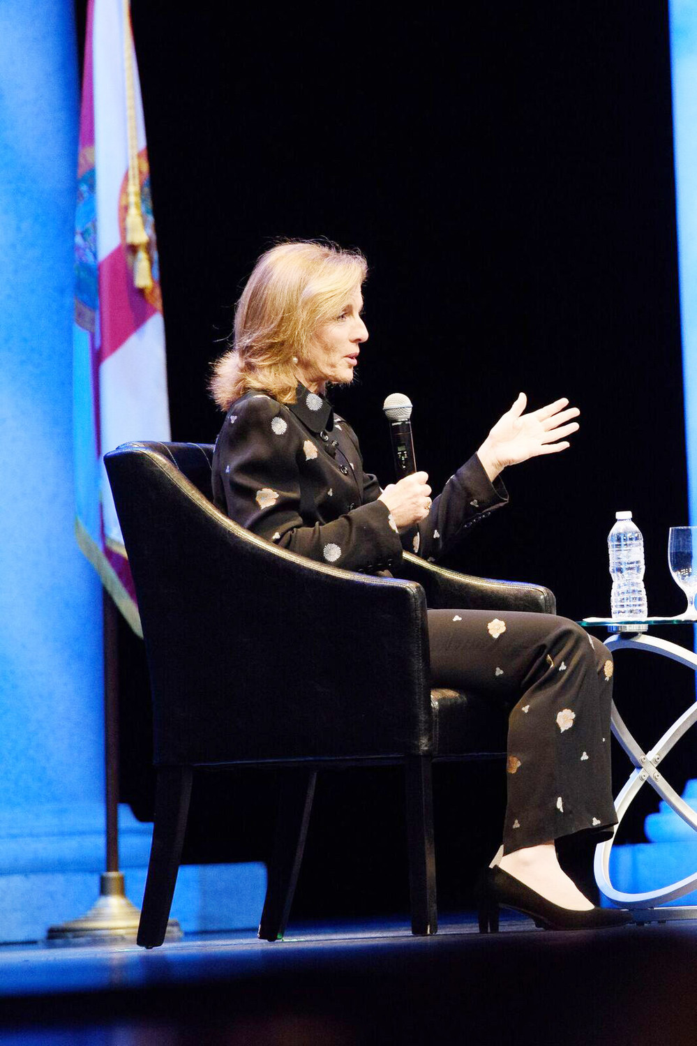Caroline Kennedy chats with WJCT News host Melissa Ross at her Florida Forum address on March 5.