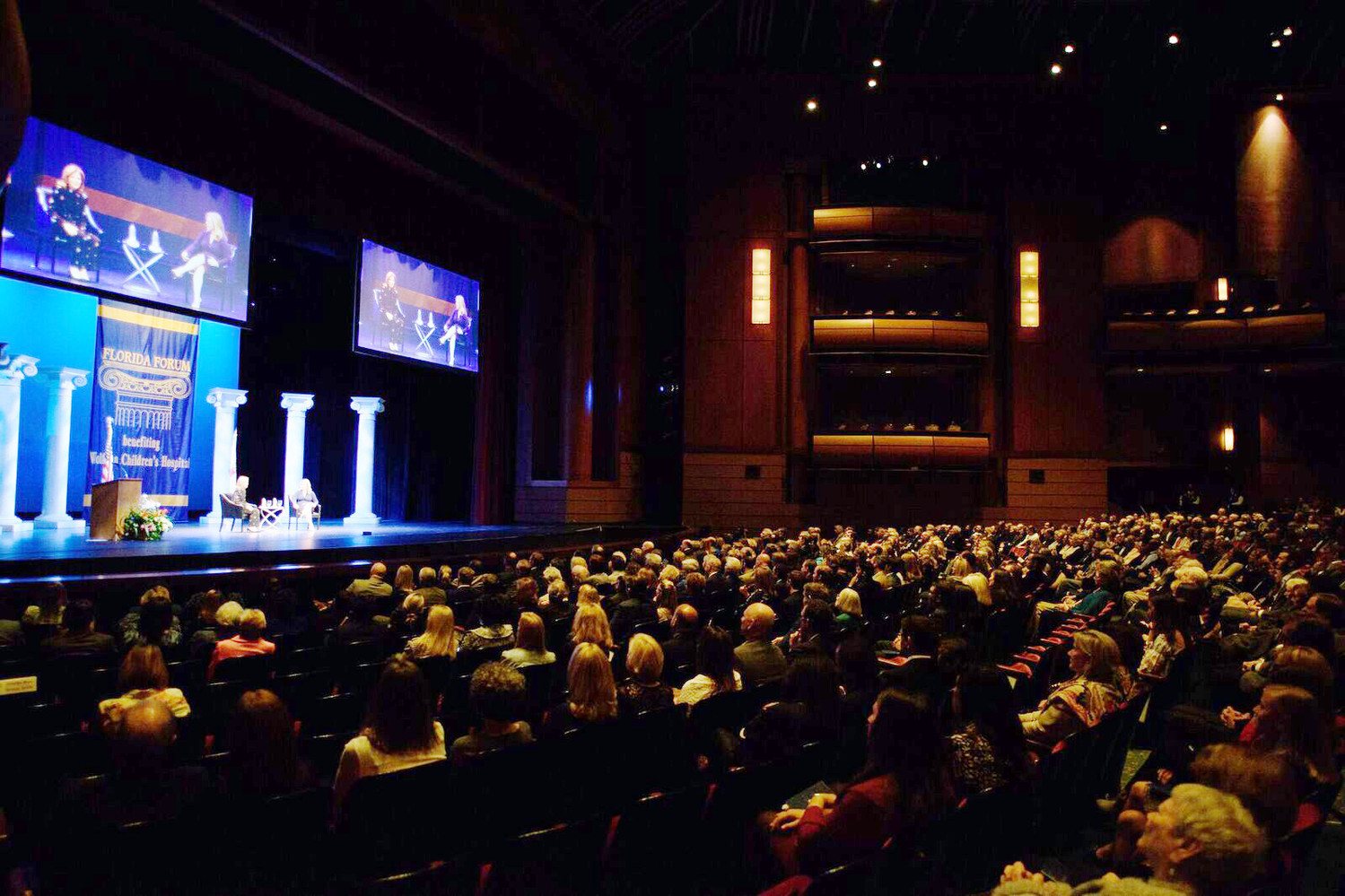Over 1,300 guests attended Kennedy's address at the Times-Union Center for the Performing Arts.