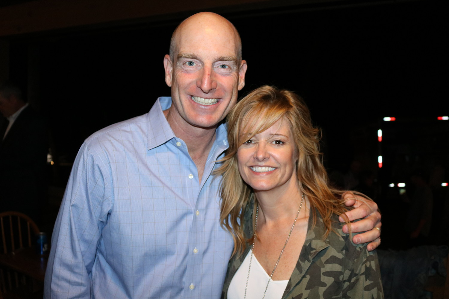 Jim and Tabitha Furyk at the Furyk & Friends concert