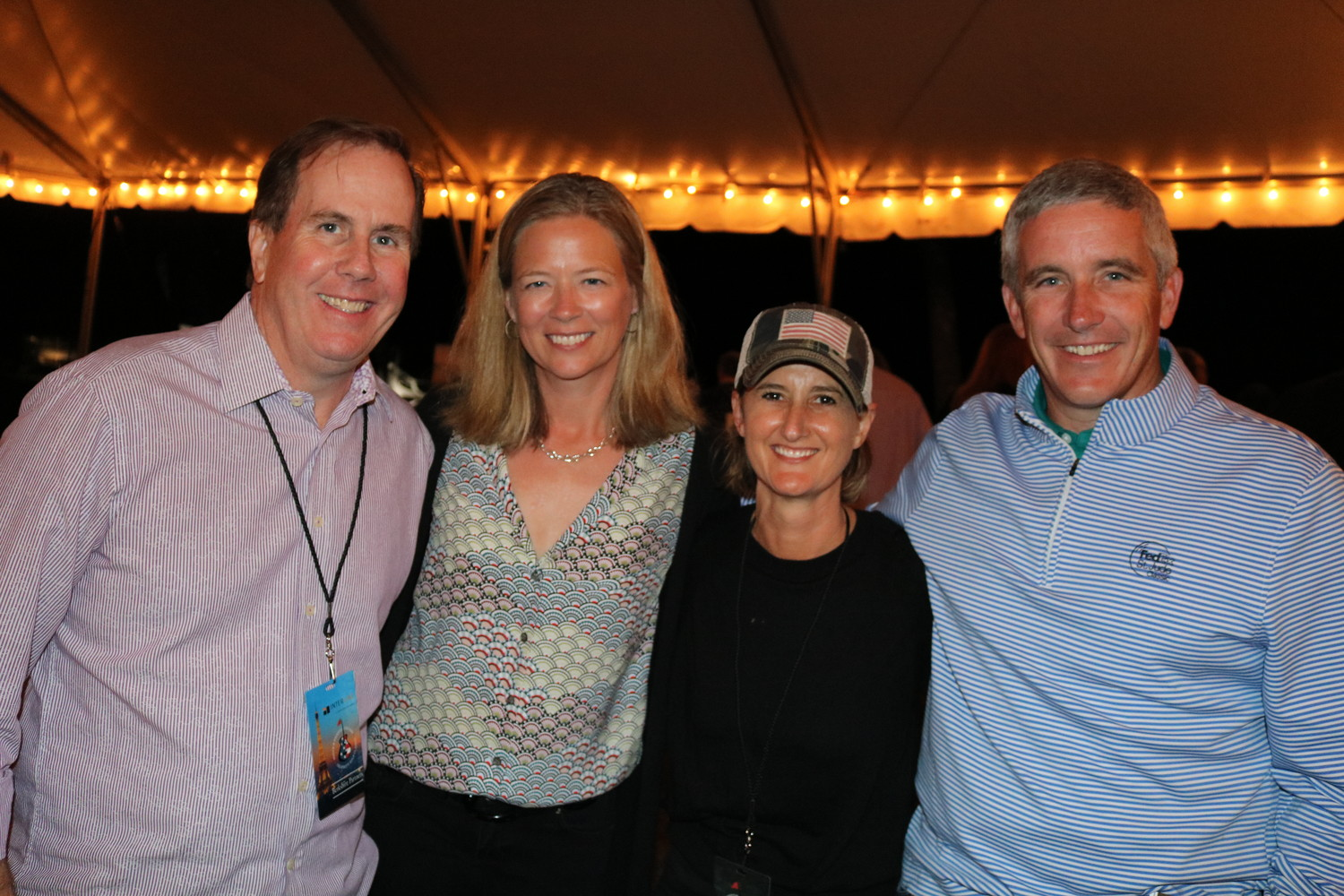 Mike Grebe, Susan Monahan, Willow Logue and PGA Tour Commissioner Jay Monahan before the concert