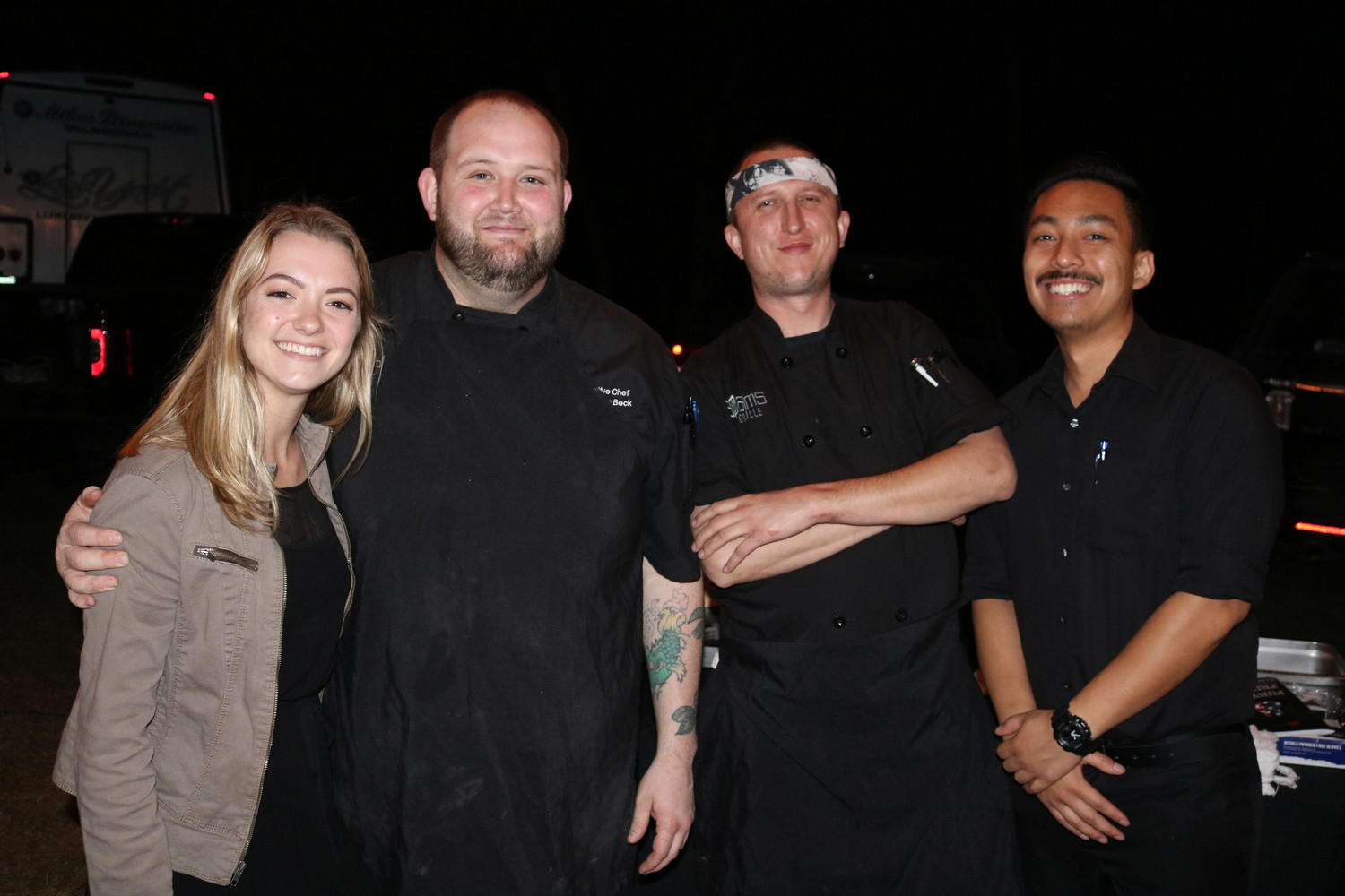 The 3 Palms Grille culinary team at the concert