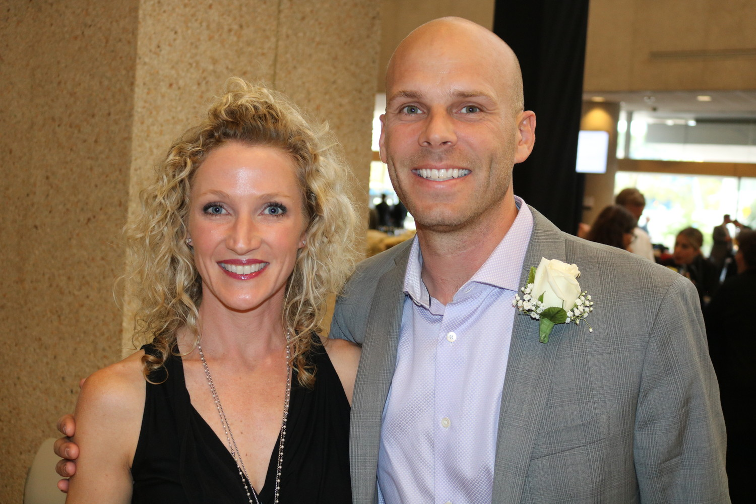Amber Moorman with husband and former NFL punter and current realtor Brian Moorman