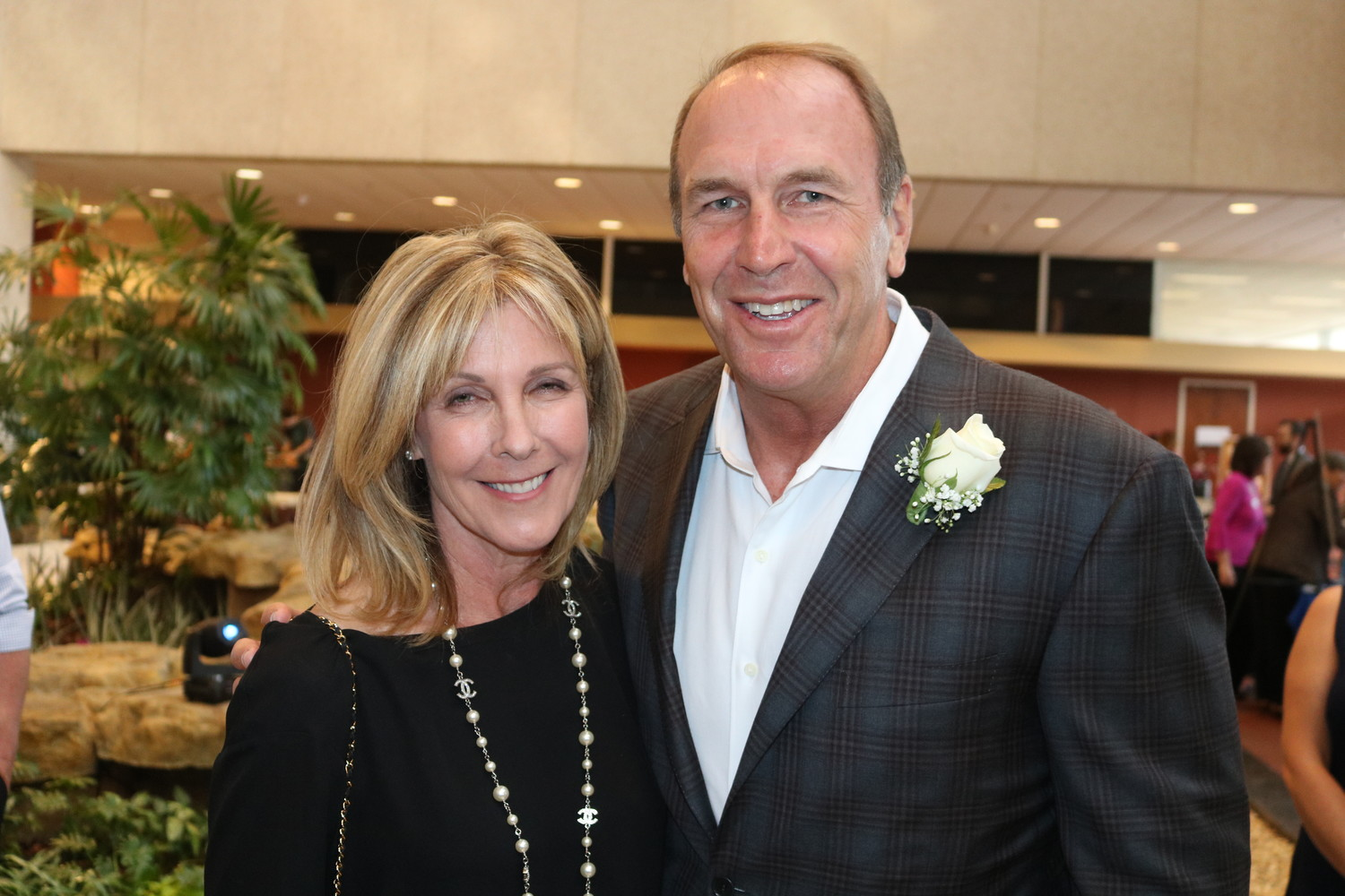 "Elizabeth ""Betsy"" Conant Mularkey with husband and NFL coach Mike Mularkey"
