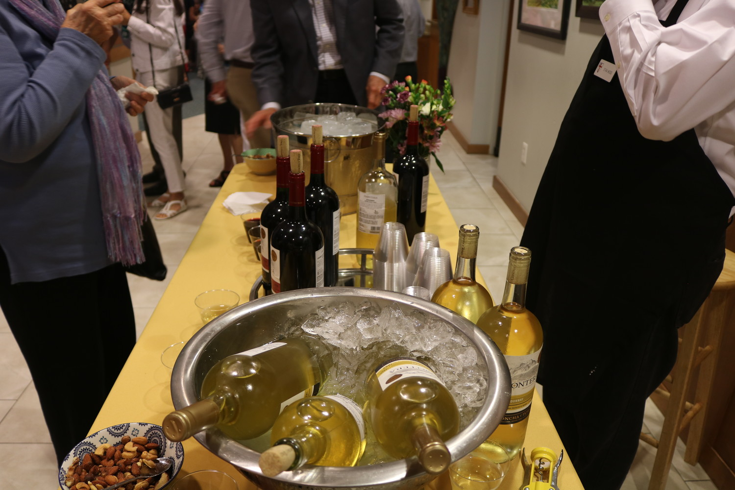 Drinks were available for guests at the reception event following Rev. Westbury's retirement ceremony.