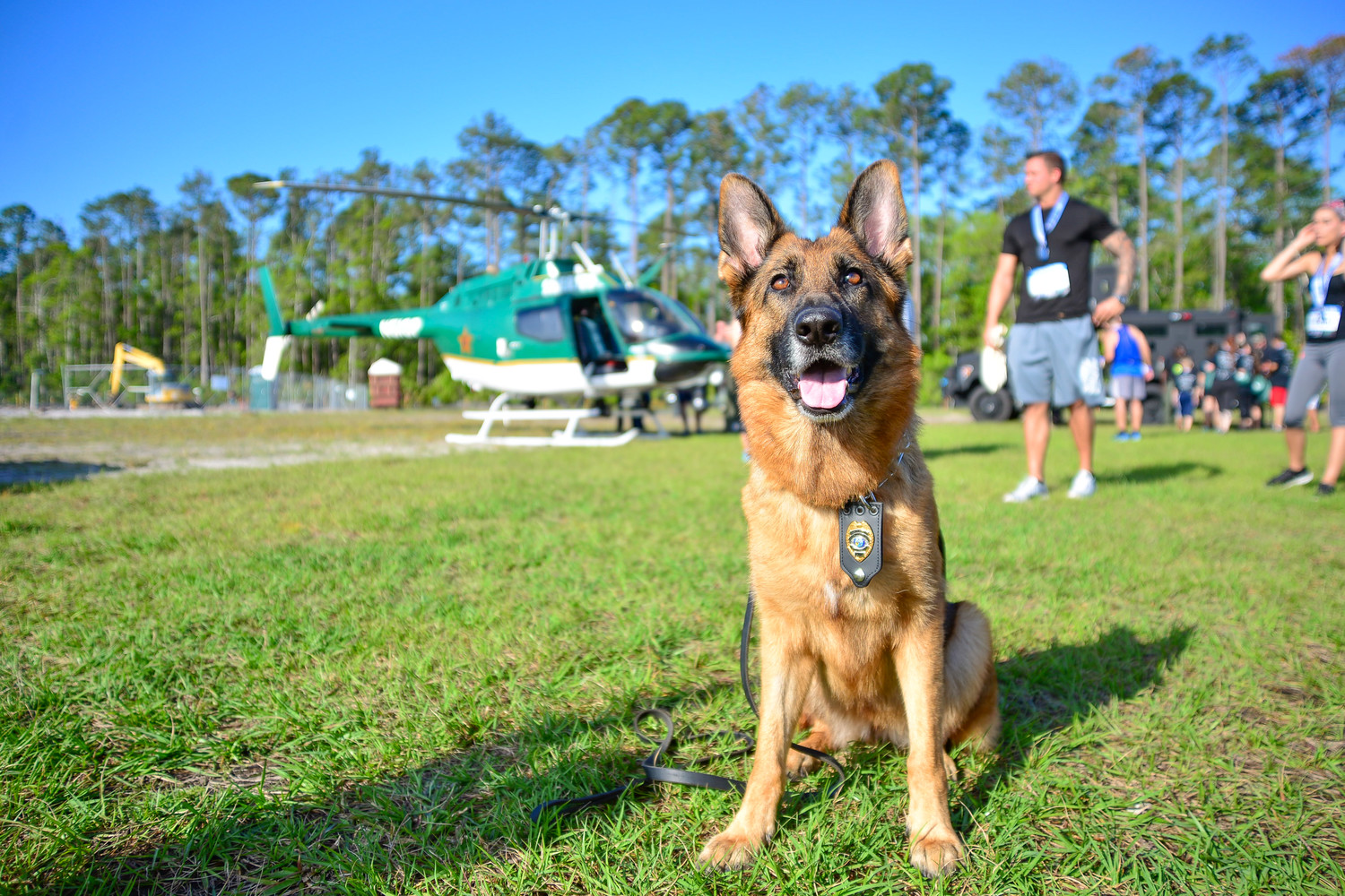 A K-9 Officer attends the K-9s United running events Saturday, April 14 in Nocatee.
