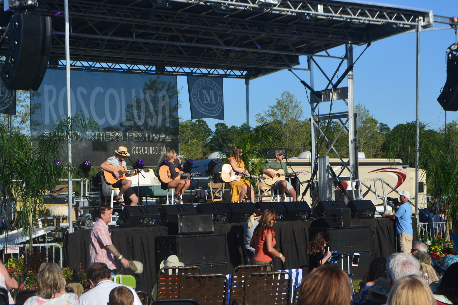 Songwriters share their stories and perform popular songs on-stage at the 2018 Roscolusa Songwriters Festival, held April 28 in Nocatee.