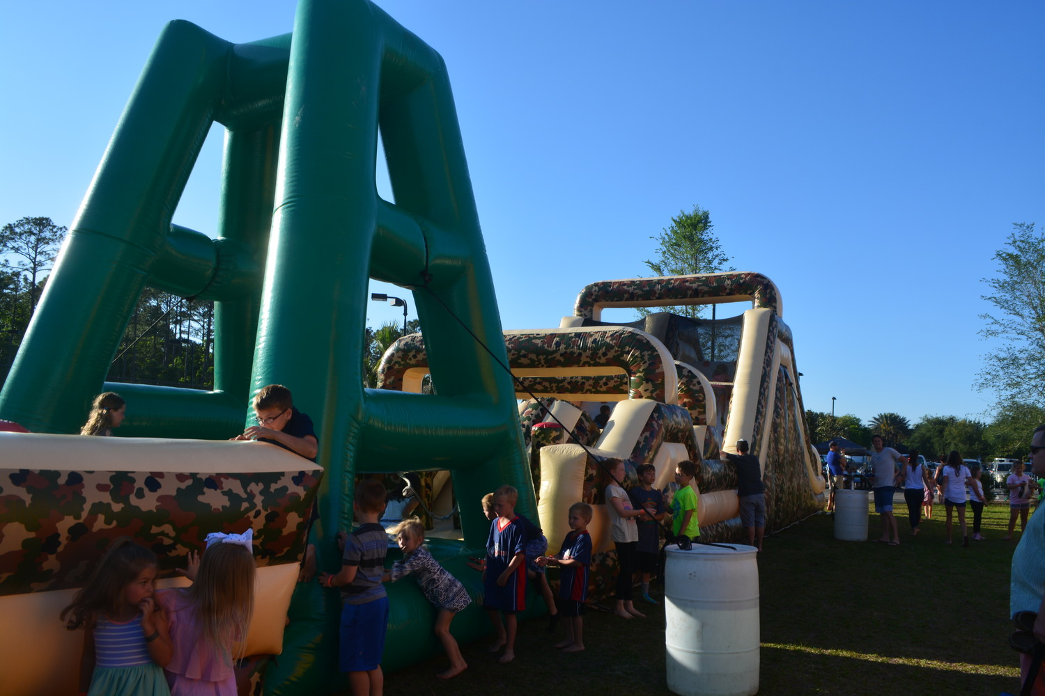 Kids enjoy the play area at the Roscolusa Songwriters Festival.