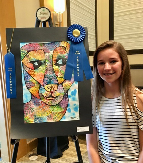 Valley Ridge Academy Middle School student Stella Murphy wins Best in Show.