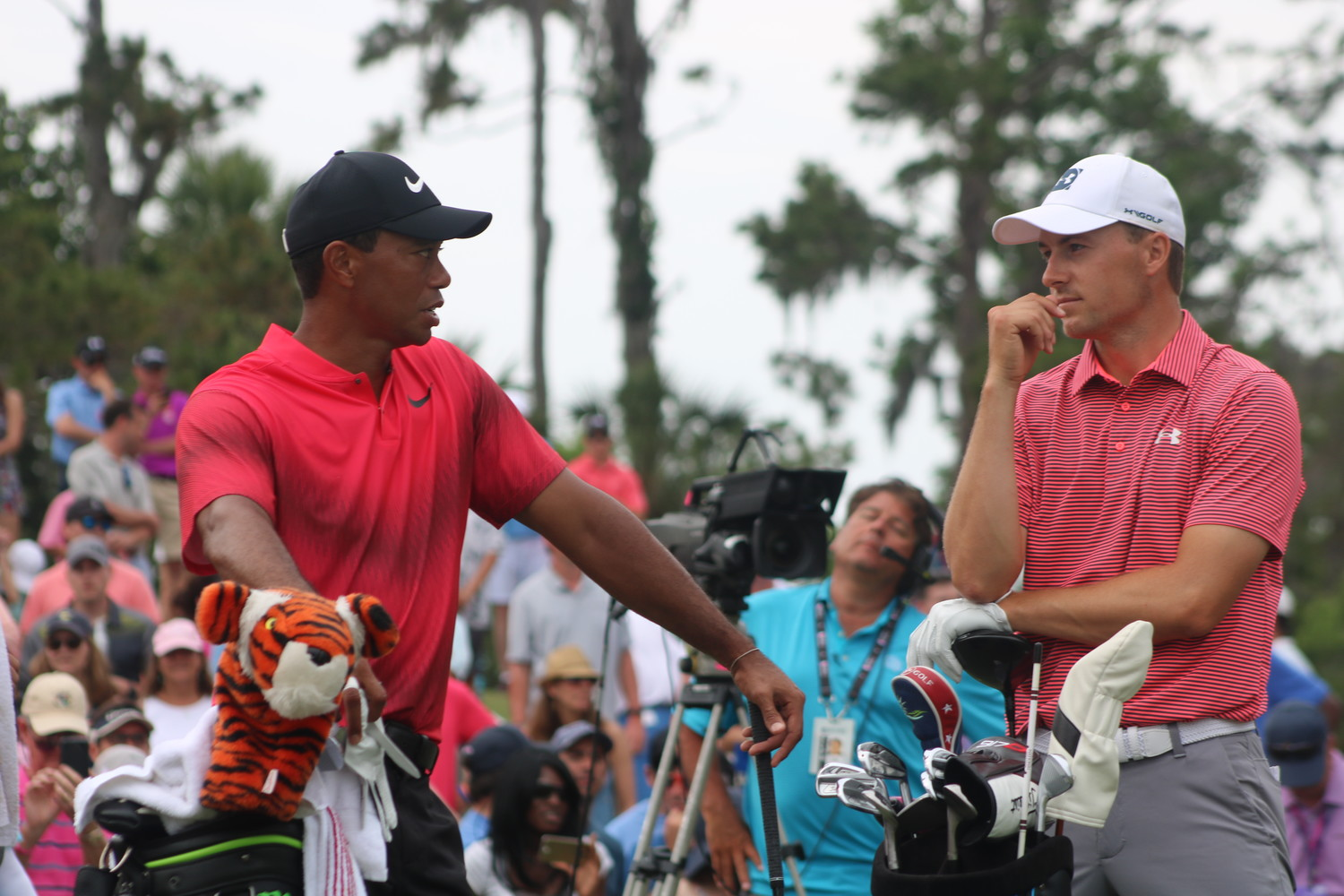 Tiger Woods is paired with Jordan Spieth on the final day of THE PLAYERS Championship.