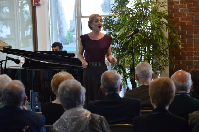 Cabaret singer Shana Farr performs for the residents of Westminster Woods on Julington Creek.