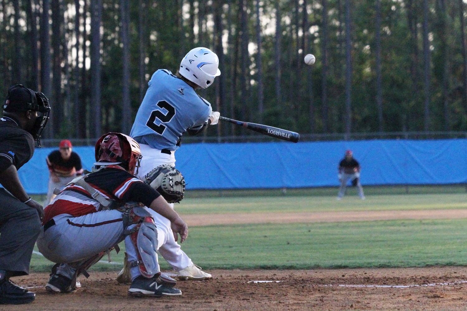 Matthew Barnhorst of Ponte Vedra pulls the ball deep but foul in the Sharks' 6-0 playoff win over Terry Parker.