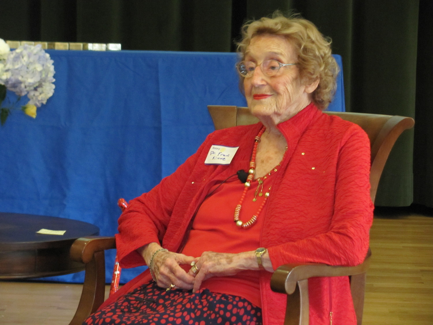 Dr. Frances Kinne received a Lifetime Achievement Award at the event for her pioneering efforts within Rotary and society as a whole.