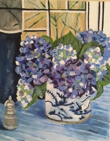 """Hydrangeas"" by Mareen Ryder"