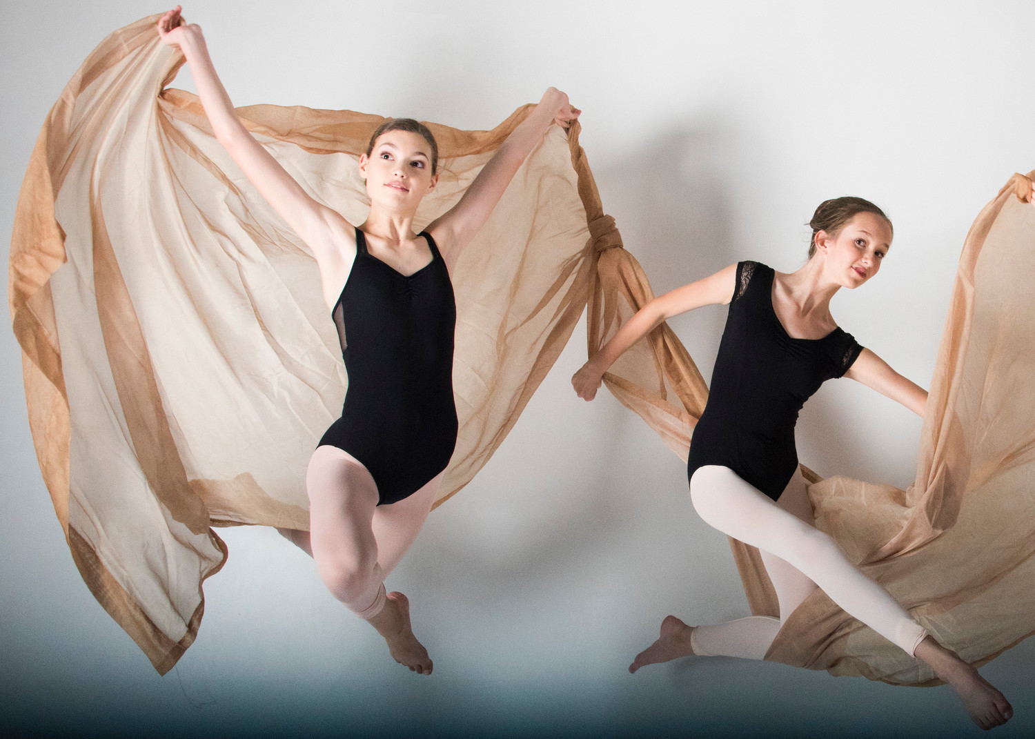 Ponte Vedra Ballet & Dance Company students Anna Woody and Anne Case