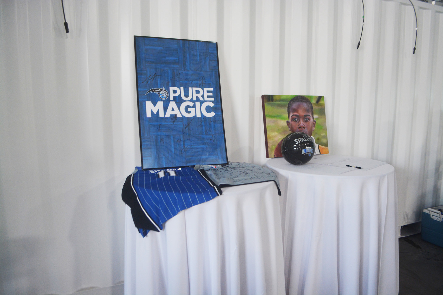 Orlando Magic memorabilia was auctioned off at the fundraising event to support Biyombo's effort to provide health services to the Congo.