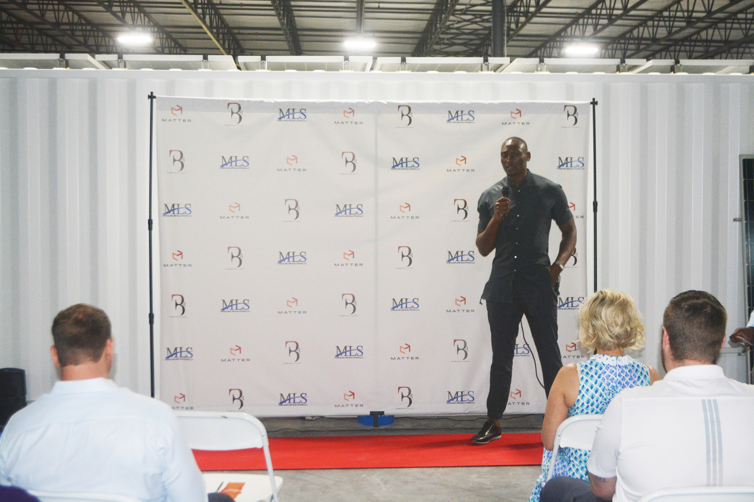 Biyombo discusses his foundation's efforts.